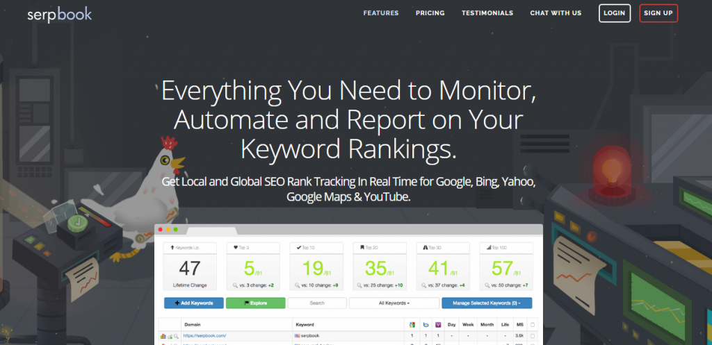 SERP Book - seo rank tracking software