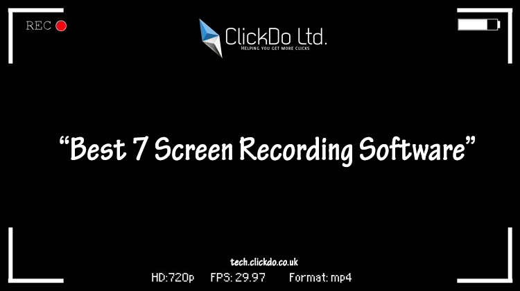 7 Software To Record PC & Laptop Screens For Digital Work