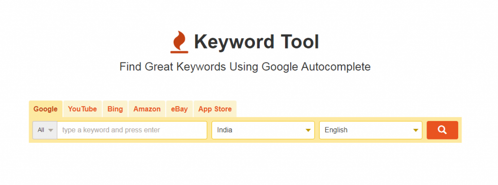 keyword tool.io for keyword research