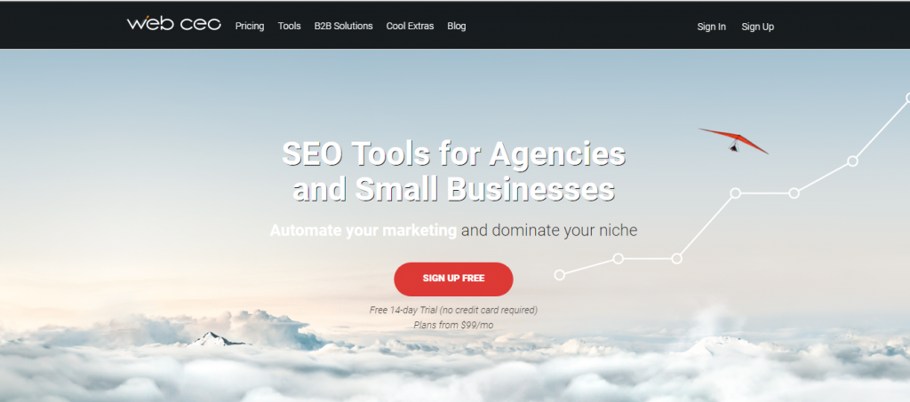 web ceo - seo rank tracking tool