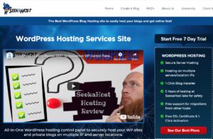 wordpress hosting site panel by SeekaHost